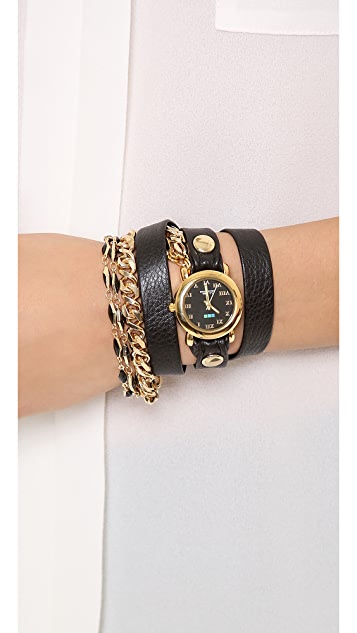 La Mer Collections Black Magic Chain Wrap Watch