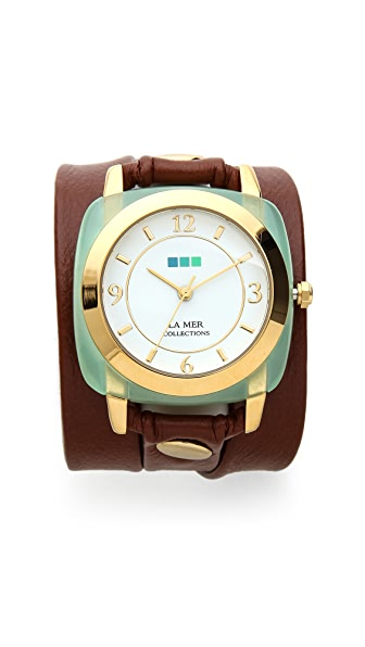 La Mer Collections Chrysoprase Wrap Watch