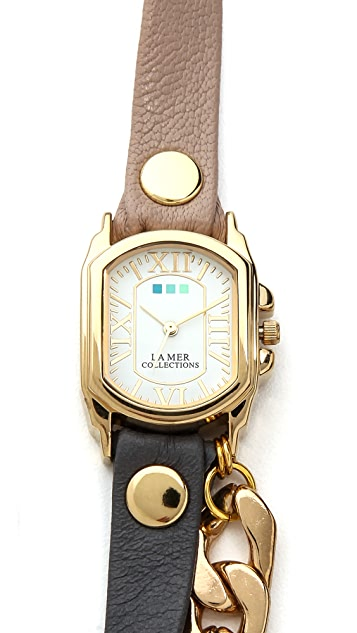 La Mer Collections Wellington Malibu Chain Watch