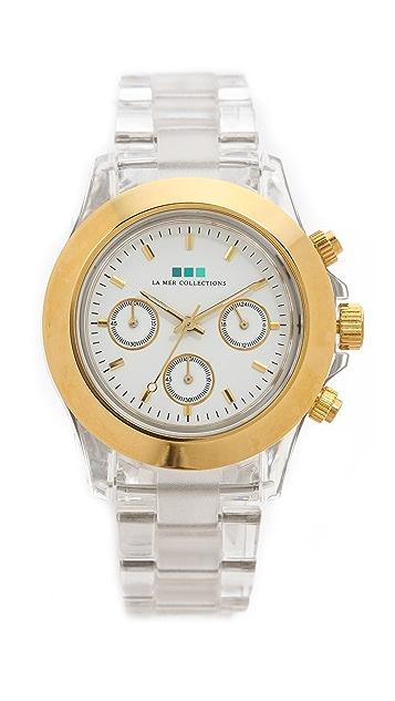 La Mer Collections Carpe Diem Watch with Lucite Link Bracelet