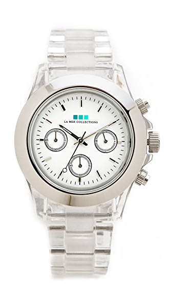 La Mer Collections Carpe Diem Watch with Lucite Link Bracelet