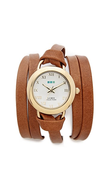 La Mer Collections Round Wrap Watch