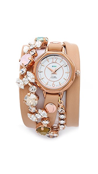 La Mer Collections Portugal Crystal Wrap Watch