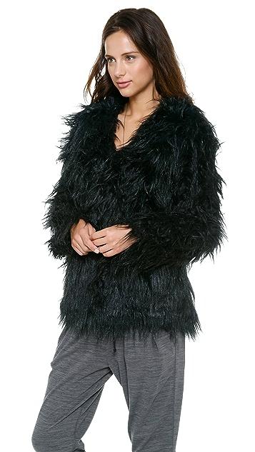 L'AMERICA Starstruck Faux Fur Coat