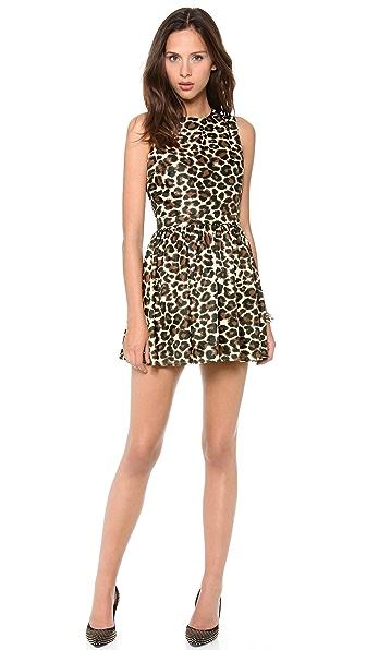 L'AMERICA Leopard Skater Dress