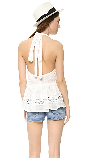 L'AMERICA She's All That Voile Halter Top
