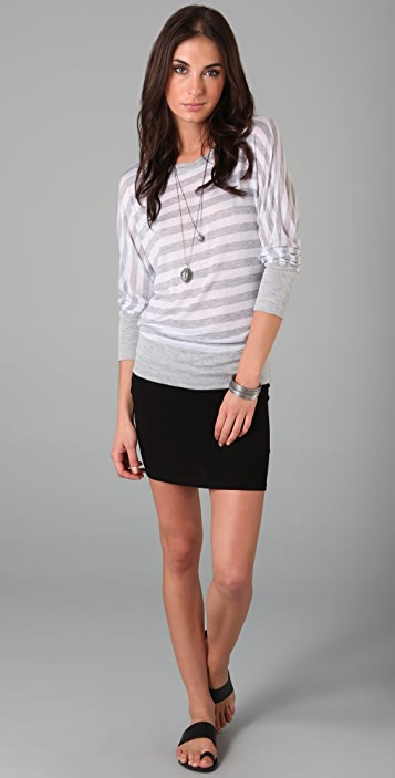 Lanston Stripe Boyfriend Top