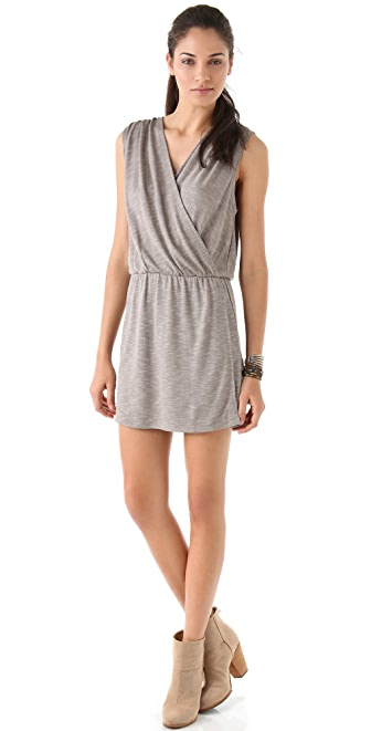Lanston Surplice Mini Dress