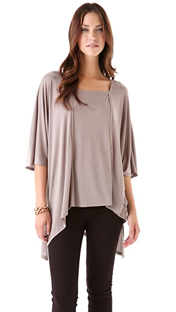Lanston Oversized Raw Edge Top