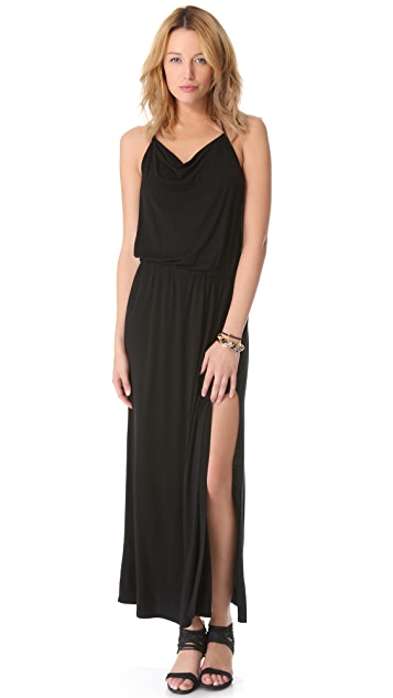 Lanston Drape Racer Back Maxi Dress