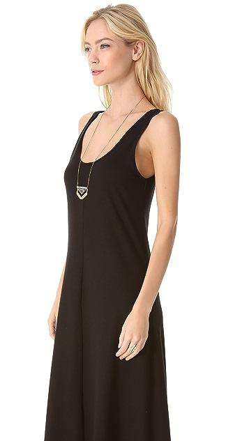 Lanston V Back Maxi Dress