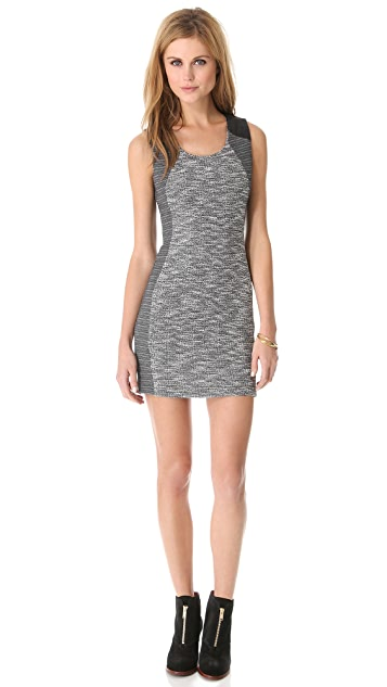 Lanston Tweed Sleeveless Dress