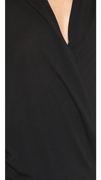 Lanston Surplice Long Sleeve Top