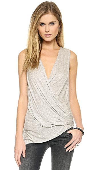 Lanston Asymmetrical Surplice Top