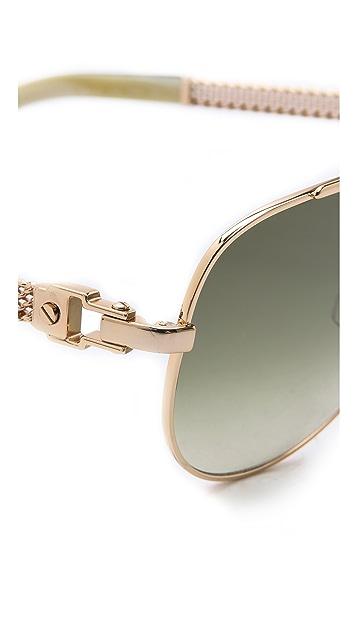 Lanvin Mesh Aviator Sunglasses