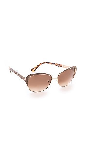Lanvin Leather Detail Sunglasses