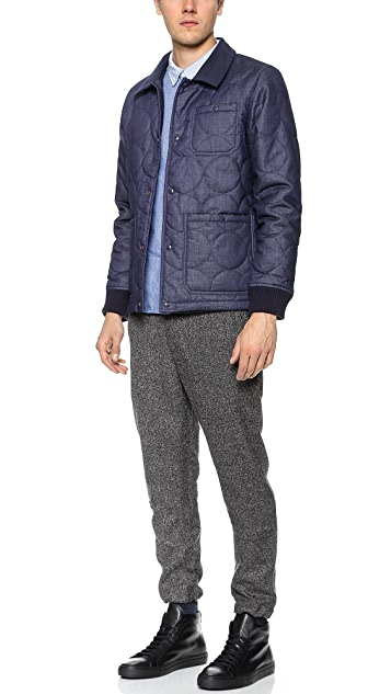 La Panoplie Quilted Chambray Jacket