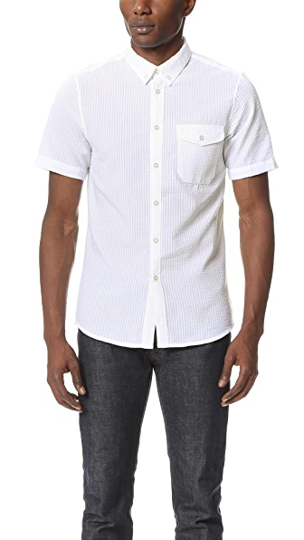 La Panoplie Seersucker Short Sleeve Shirt