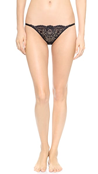 L'Agent by Agent Provocateur Vanesa Trixie Thong In Black