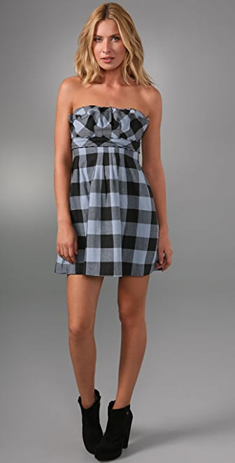 LaROK LUXE Ice Breaker Plaid Dress