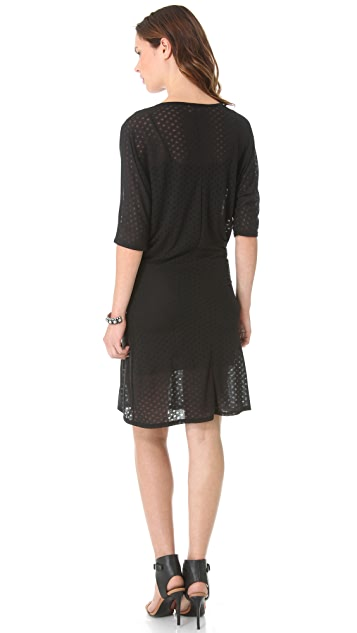 LA't by L'AGENCE U Neck Dolman Dress with Slip