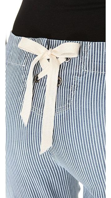 LA't by L'AGENCE Lace Back Cropped Jeans