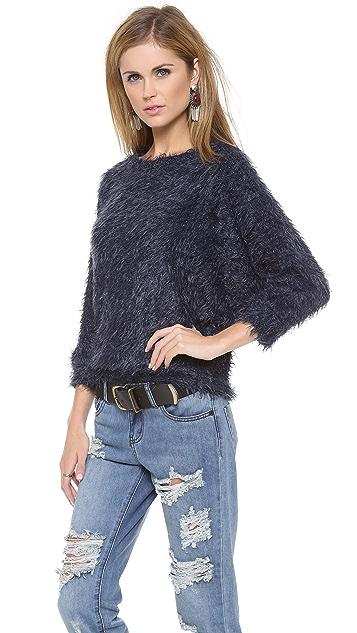 LA't by L'AGENCE Shaggy Dolman Sweater