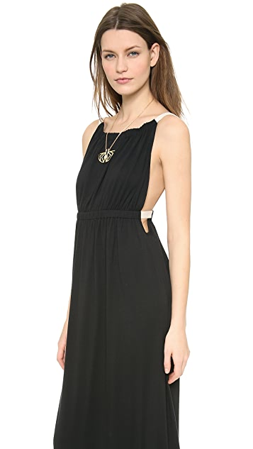 LA't by L'AGENCE Shirred Maxi Dress