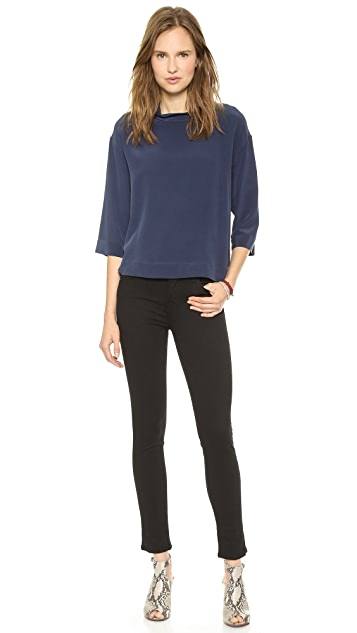 LA't by L'AGENCE Rolled Collar Blouse