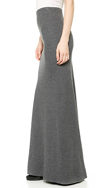 LA't by L'AGENCE Long Skirt with Fishtail Hem