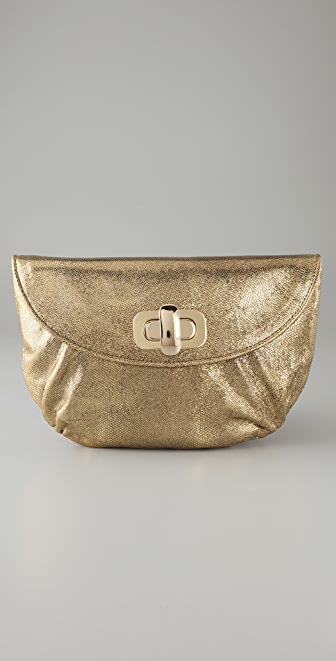 Lauren Merkin Handbags Colette Cracked Metallic Clutch