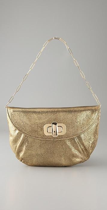 Lauren Merkin Handbags Colette Cracked Metallic Clutch