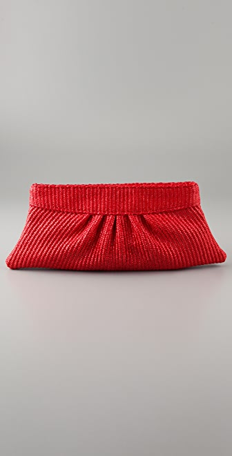 Lauren Merkin Handbags Louise Raffia Clutch