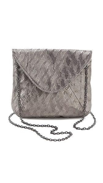 Lauren Merkin Handbags Riley Etched Metal Clutch
