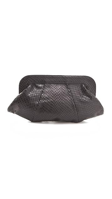 Lauren Merkin Handbags Tatum Stamped Snake Clutch