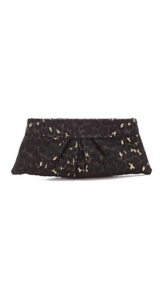 Lauren Merkin Handbags Eve Leopard Brocade Clutch