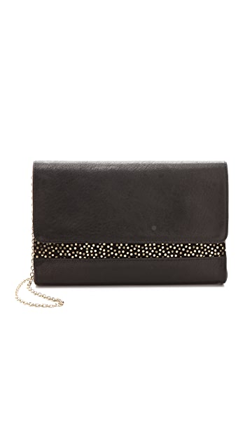 Lauren Merkin Handbags Parker Bag with Metallic Polka Dots