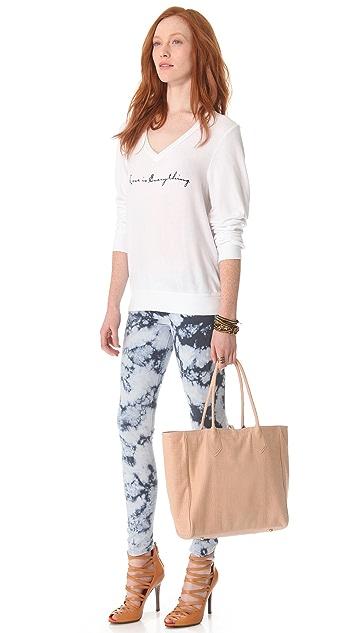 Lauren Merkin Handbags Reese Croco Suede Tote