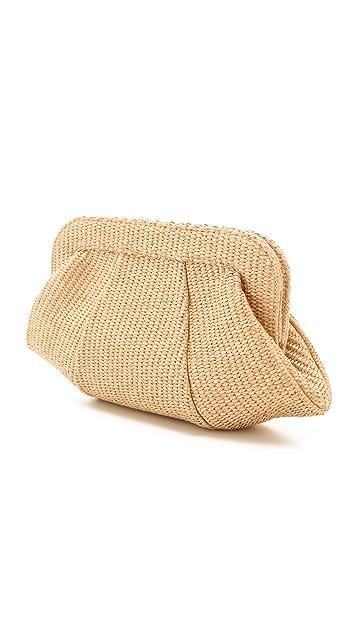 Lauren Merkin Handbags Tatum Raffia Clutch