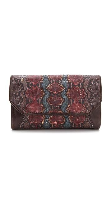 Lauren Merkin Handbags Molly Printed Cork Clutch
