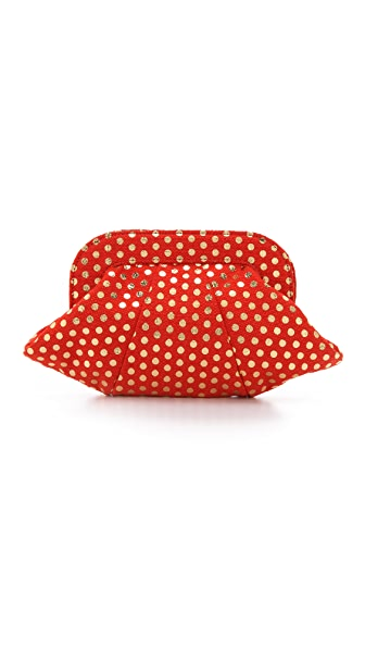 Lauren Merkin Handbags Lucy Polka Dot Clutch