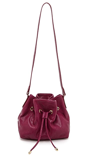 Lauren Merkin Handbags Snake Embossed Peyton Bucket Bag