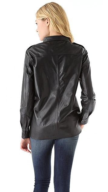 Laurence Dolige Soldat Leather Shirt