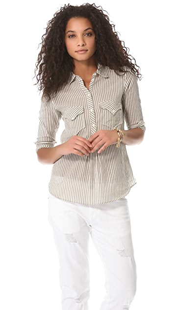 Laurence Dolige Candy Henley Top