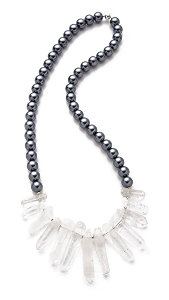 La Vie Bobo Large Glass Quartz Necklace