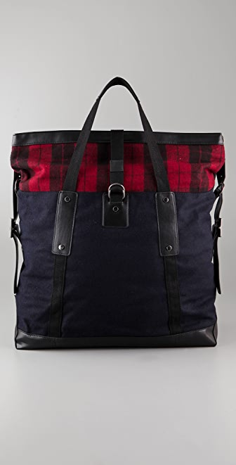 LOVE by Diego Binetti Orion Plaid Tote