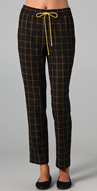 Lyn Devon Plaid Drawstring Truman Pants