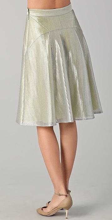 Lyn Devon Short Metallic Morris Skirt