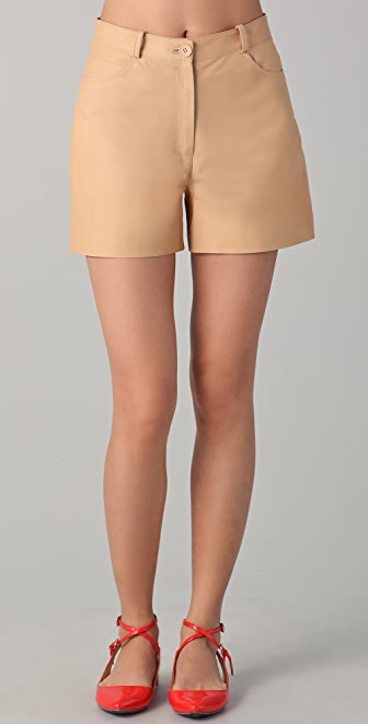 Lyn Devon City Leather Shorts