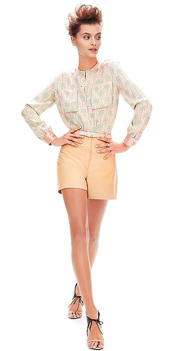 Lyn Devon City Leather Shorts